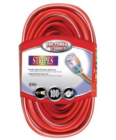 100 ft. Red & White 12/3 Outdoor Extension Cord