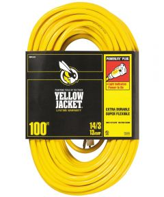 100 ft. 14/3 Yellow Jacket Extension Cord