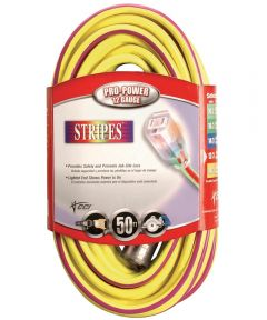 100 ft. Yellow & Purple 12/3 Outdoor Extension Cord
