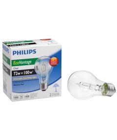 72 Watt Clear EcoVantage Light Bulb 2 Count