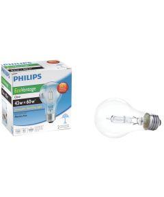 43 Watt 120 Volt A19 Clear Light Bulb 2 Count