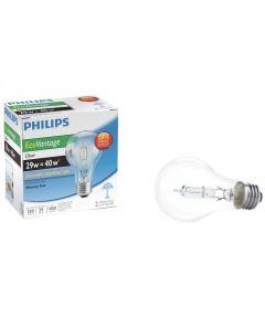 29 Watt A19 120 Volt Clear EcoVantage Light Bulb 2 Count