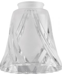 2-1/4 in. Frosted & Clear Cross Lamp Shade