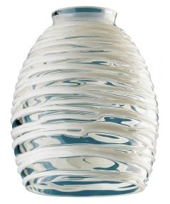 Westinghouse 2-1/4 in. Clear & White Rope Glass Fitter