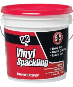 1 Gallon White All Purpose Vinyl Spackle Interior/Exterior