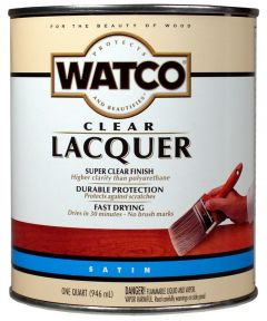 WATCO Lacquer Clear Wood Finish, Quart, Satin