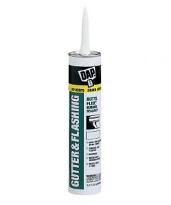 Gray Gutter & Flashing Butyl Flex Rubber Sealant, 10.1 oz.
