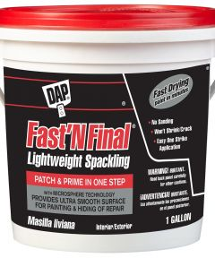 1 Gallon Fast'N Final Spackling Interior & Exterior