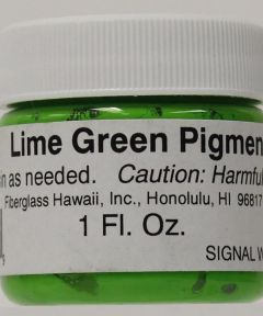 Pigment Resin Lime Green 1 oz.