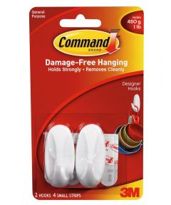 Small Designer Hooks With Command Adhesive