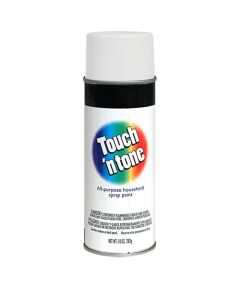 Touch N Tone General Purpose Spray Paint, 10 oz., Flat White