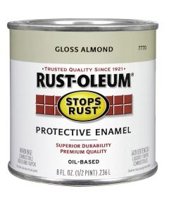 Stops Rust Protective Enamel Oil-Based Paint, Half Pint, Gloss Almond