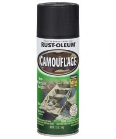 Specialty Camouflage Spray, 12 oz Spray Paint, Black