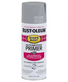 Stops Rust Automotive Primer Spray, 12 oz Spray Paint, Light Gray