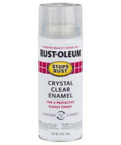 Stops Rust Clear Enamel, 12 oz Spray Paint, Crystal Clear