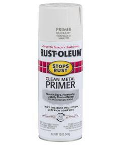 Stops Rust Clean Metal Primer Spray, 12 oz Spray Paint, Clean Metal Primer