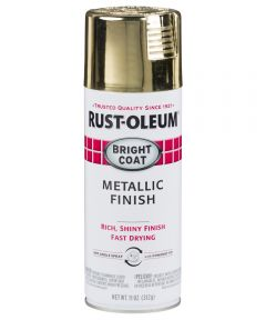 Stops Rust Bright Coat Spray, 11 oz Spray Paint, Gold