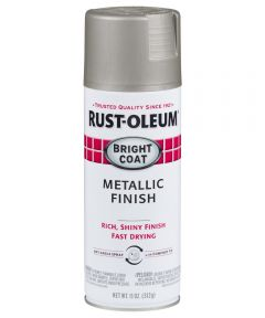 Stops Rust Bright Coat Spray, 11 oz Spray Paint, Aluminum