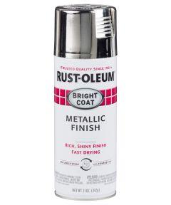 Stops Rust Bright Coat Spray, 11 oz Spray Paint, Chrome