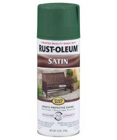 Stops Rust Satin Enamel Spray, 12 oz Spray Paint, Hunter Green