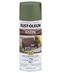 Stops Rust Satin Enamel Spray, 12 oz Spray Paint, Spruce Green