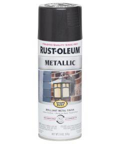 Stops Rust Metallic, 11 oz Spray Paint, Black Night