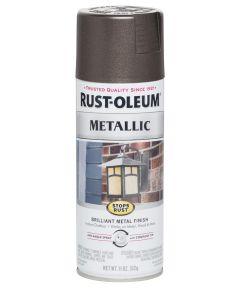 Stops Rust Metallic, 11 oz Spray Paint, Dark Bronze