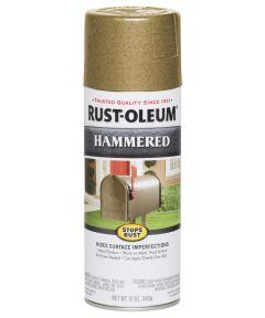 Stops Rust Hammered Spray, 12 oz Spray Paint, Gold