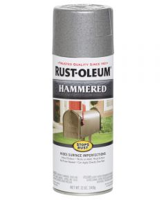 Stops Rust Hammered Spray, 12 oz Spray Paint, Silver