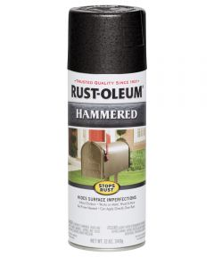 Stops Rust Hammered Spray, 12 oz Spray Paint, Black
