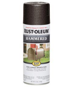 Stops Rust Hammered Spray, 12 oz Spray Paint, Dark Bronze