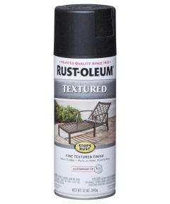 Stops Rust Textured Spray, 12 oz Spray Paint, Black Textured