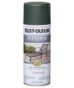 Stops Rust Textured Spray, 12 oz Spray Paint, Forest Green Textured