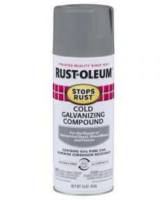 Stops Rust Cold Galvanizing Compound Spray, 16 oz Spray Paint, Gray