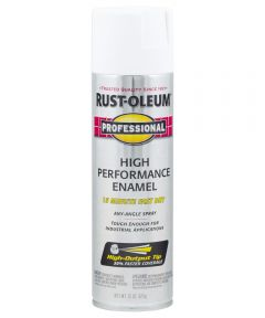 Professional High Performance Enamel Spray Paint, 15 oz., Flat White