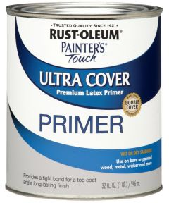 Painter's Touch Ultra Cover Primer Brush-on, Quart, Flat Gray Primer