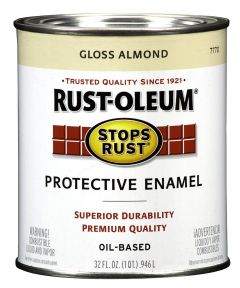 Stops Rust Protective Enamel Oil-Based Paint, 1 Quart, Almond