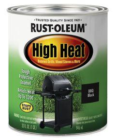 Specialty High Heat Brush On, Quart, Bar-B-Que Black