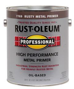 Professional Rusty Metal Primer, 1 Gallon, Flat Rusty Metal Primer