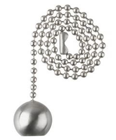 Westinghouse Ball Pull Chain, Brushed Nickel