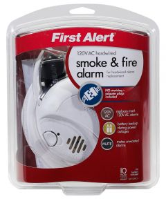 120V AC Smoke Alarm with Battery Backup