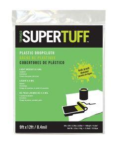 9 ft. x 12 ft. 4MM SuperTuff Lightweight Plastic Drop Cloth
