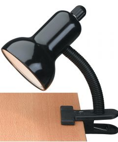 Clip-On Gooseneck Lamp, Black