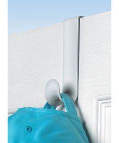White Single Over The Door Hook