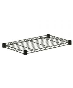 14x36 Inch  Black Steel Shelf