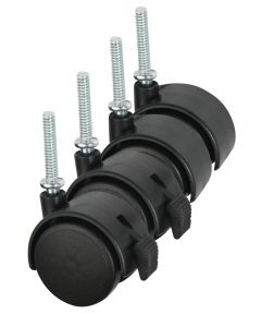 2 Inch Black Casters, 4 Count