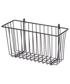 Black Wire Accessory Basket, 13.34 x 5 x 7.6 Inches