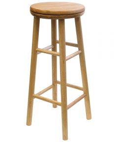 30 in. Natural Swivel Bar Stool