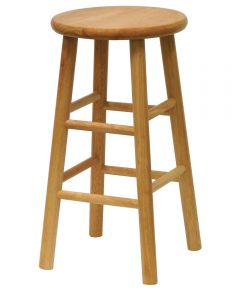 24 in. Natural Beveled Seat Barstool