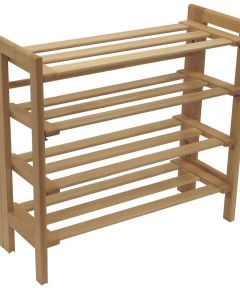 4 Tier Natural Foldable Shoe Rack